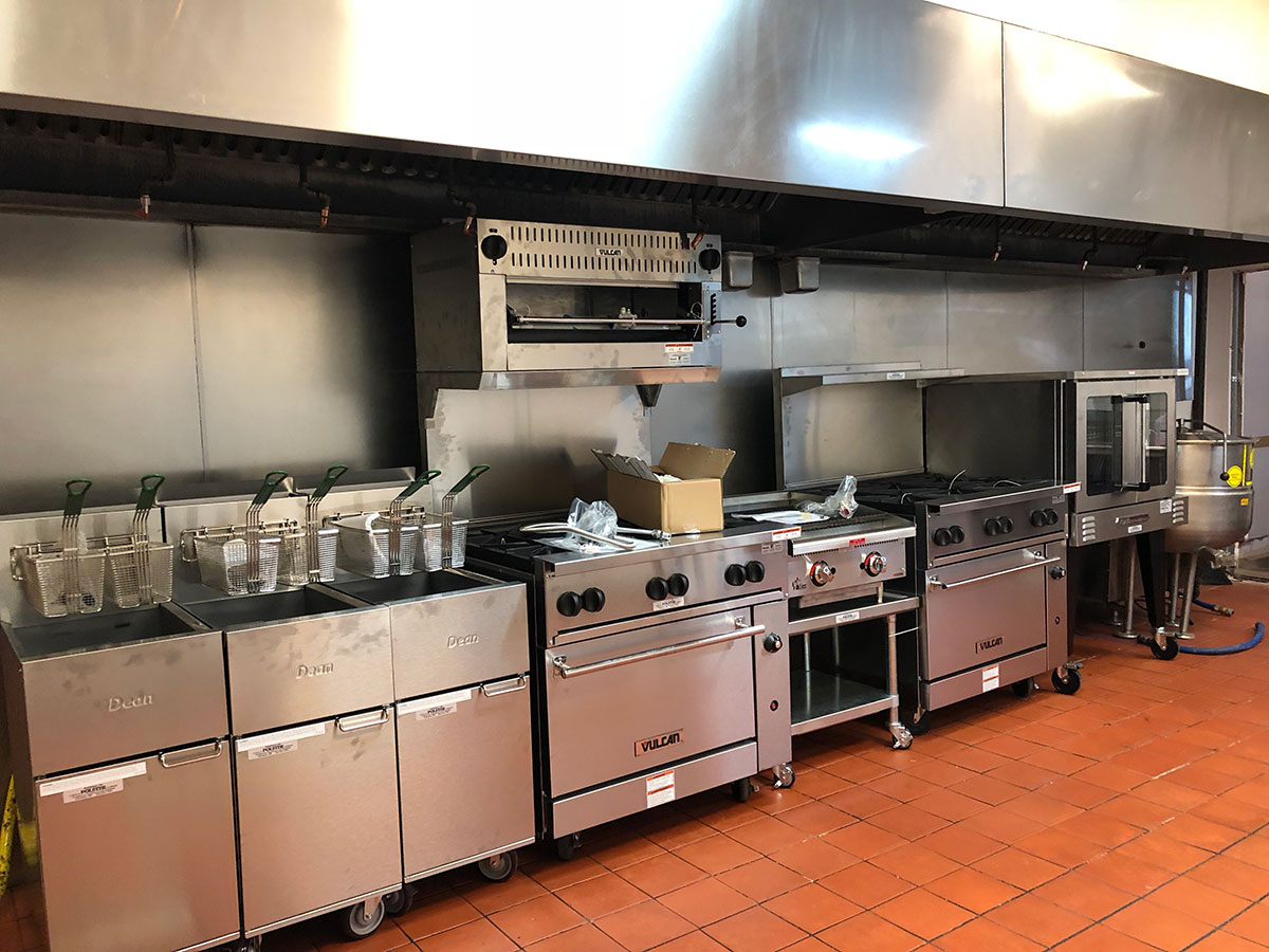 Cleaned commercial kitchen fryers and hoods