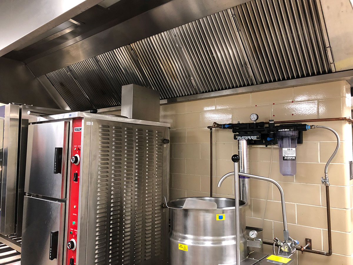 Clean Commercial Kitchen Hoods
